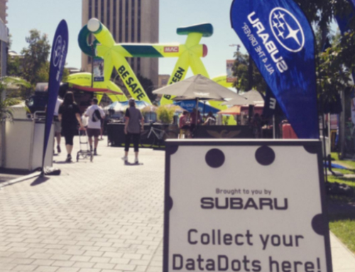 Subaru and DataDot at the Tour Down Under
